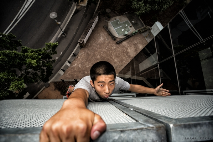 Rooftopper - White Knuckles. by DanK - Your Point Of View Photo Contest