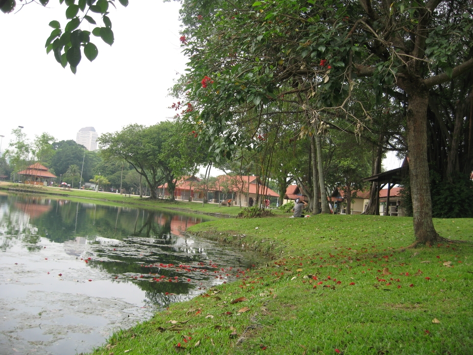 This is one of Malaysia\'s lakes in Kuala lumpur.