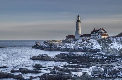 Wintery Coast Line with Fading Light