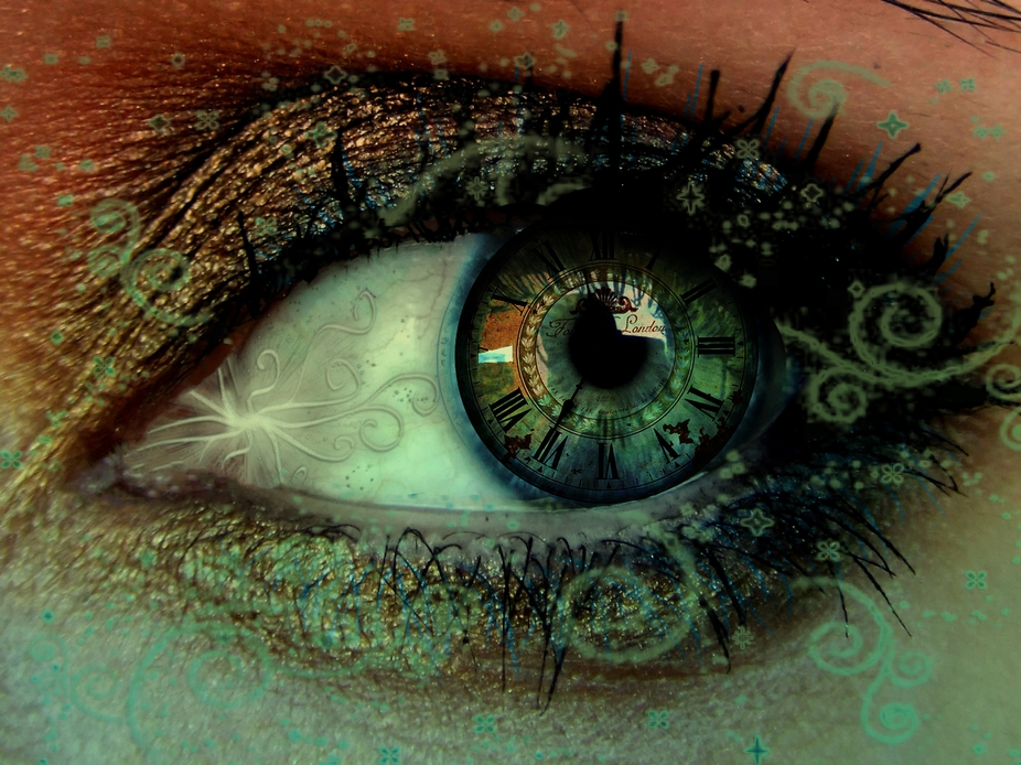 This is a manipulated eye.