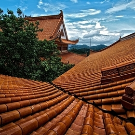 Shenzhen temple roof tops