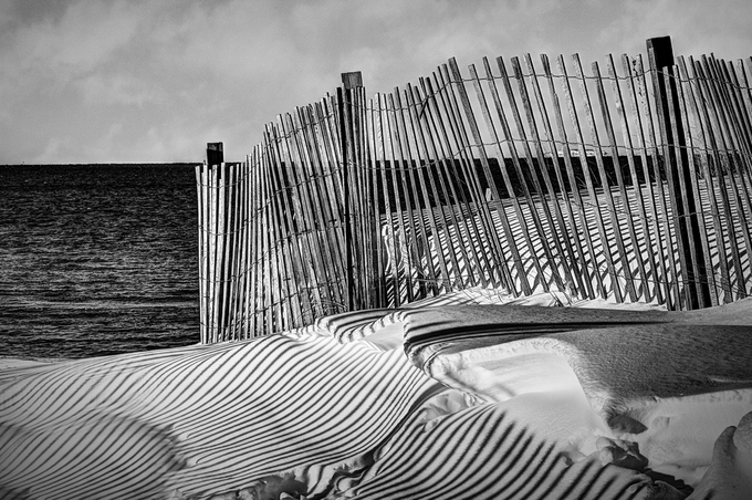 Snow Fence by joebaxter - Composing with Diagonals Photo Contest