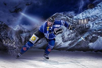 Hockey Player Composing