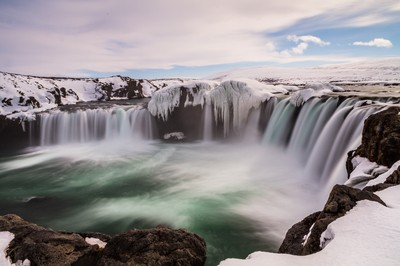 Goðafoss by winter