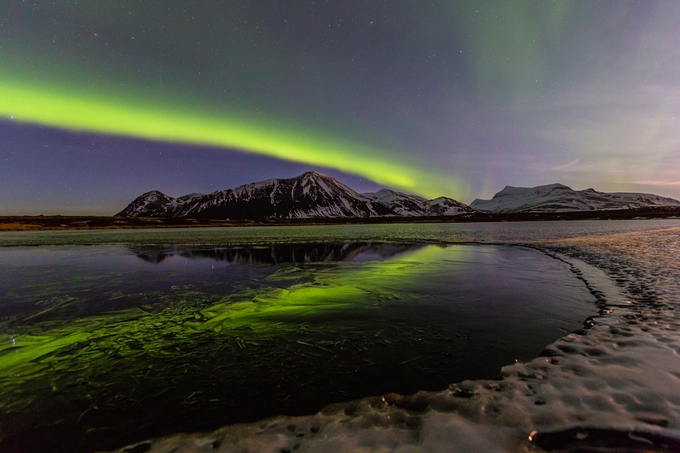 Freezing pond by palmivilhjalmsson - Landscapes Of Iceland Photo Contest