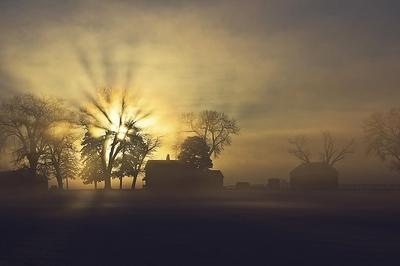 1-IMG_6052-Farmhouse Sunrise in Winter