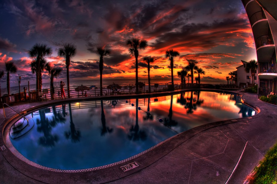 HDR Photo. Panama City Beach Sunset. Panama City Beach, Florida.