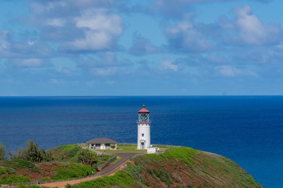 The Kilauea Lighthouse on Kauai, HI.  This picture was take on Christmas Day, so the lighthouse w...
