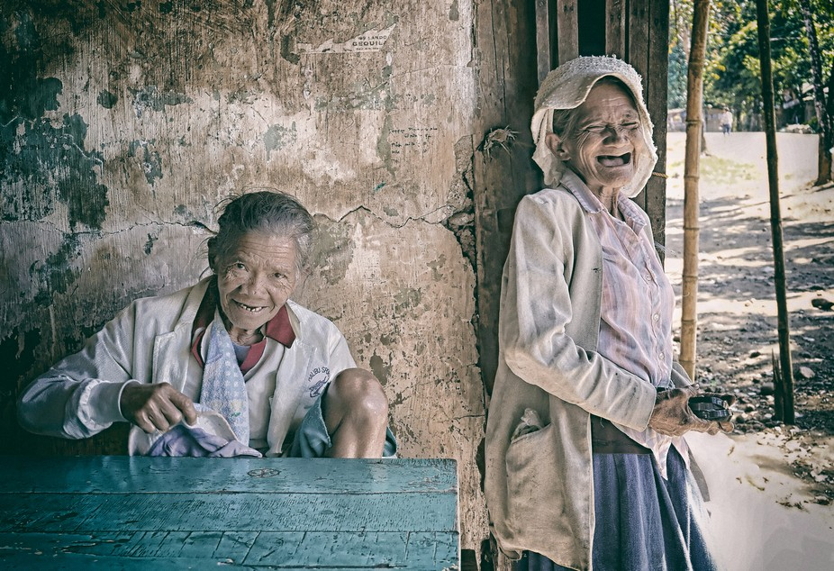 caught these two old women having a break in a small eatery in southern philippines