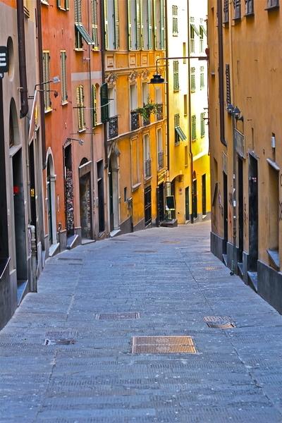 Italy, Genoa, street
