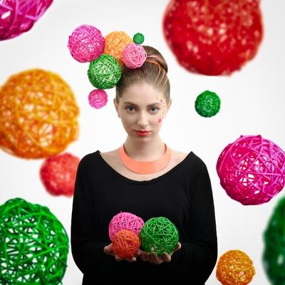 Portrait with balls