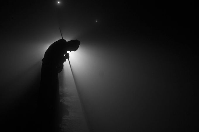 in between fog and night by srimanta - Epic Black and White Photo Contest