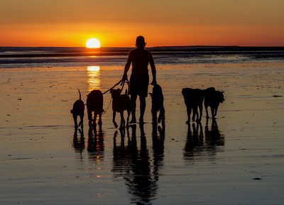A walk on the beach at Sunset