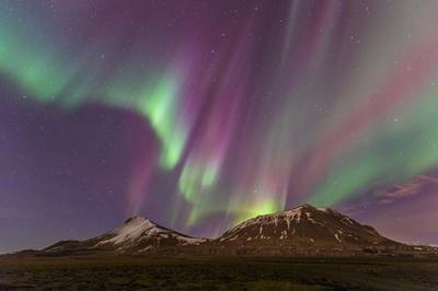 Auroras in West Iceland