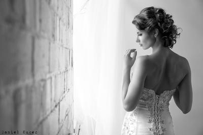 Bride in the window light