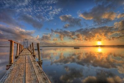 Denmark - Roskilde - Sunrise over the fiord