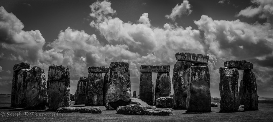 When they\'re hit by a ray of light on a cloudy day, the old Bluestones of Stonehenge seem to radi...