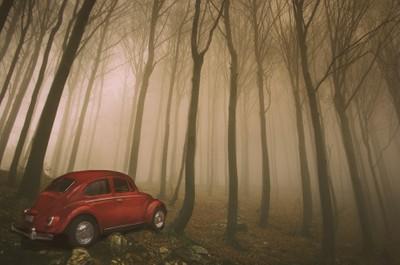 Photoshoped toy car