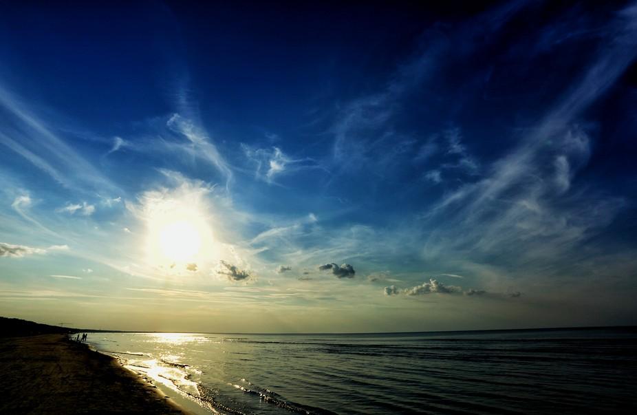 Baltic sea at dusk