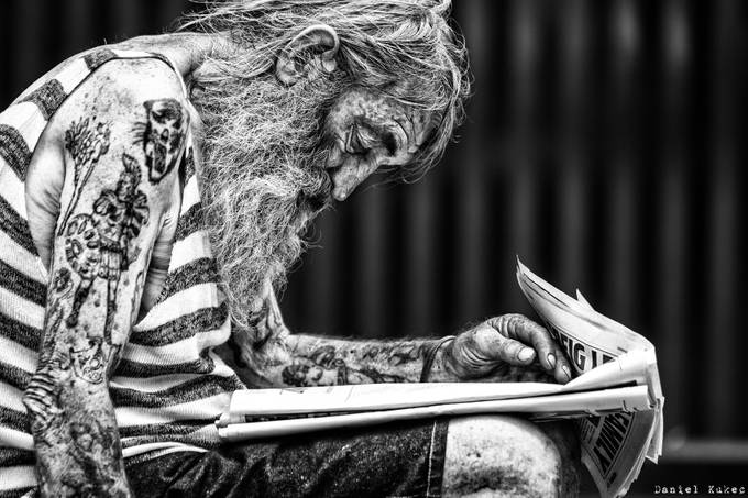 The wizard. by DanK - Textures In Black And White Photo Contest