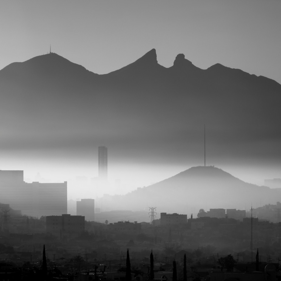 Foggy morning in Monterrey MX