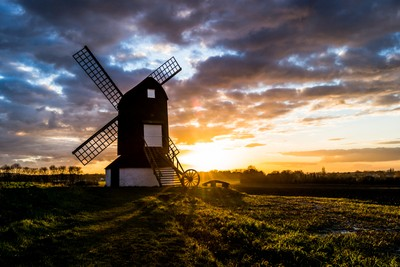 sunset at the windmill