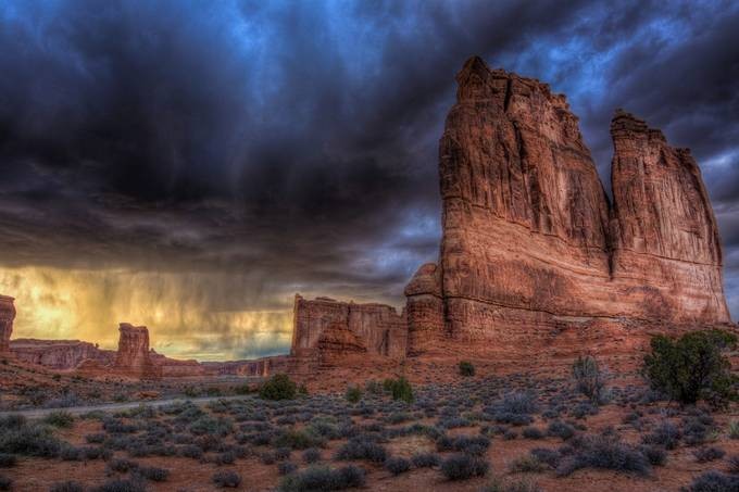 Courthouse Towers and a Storm by jaredweaver - Nature In HDR Photo Contest