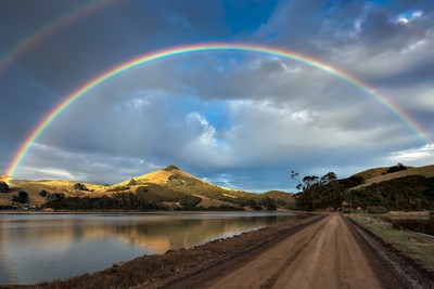 Double rainbow over the Otago Peninsula_01