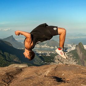 Getting air in Rio - On Pedra da Gavea.  If climbing a 800m high rock in sweltering humidity wasn't enough, my new found friend decided a few bac...