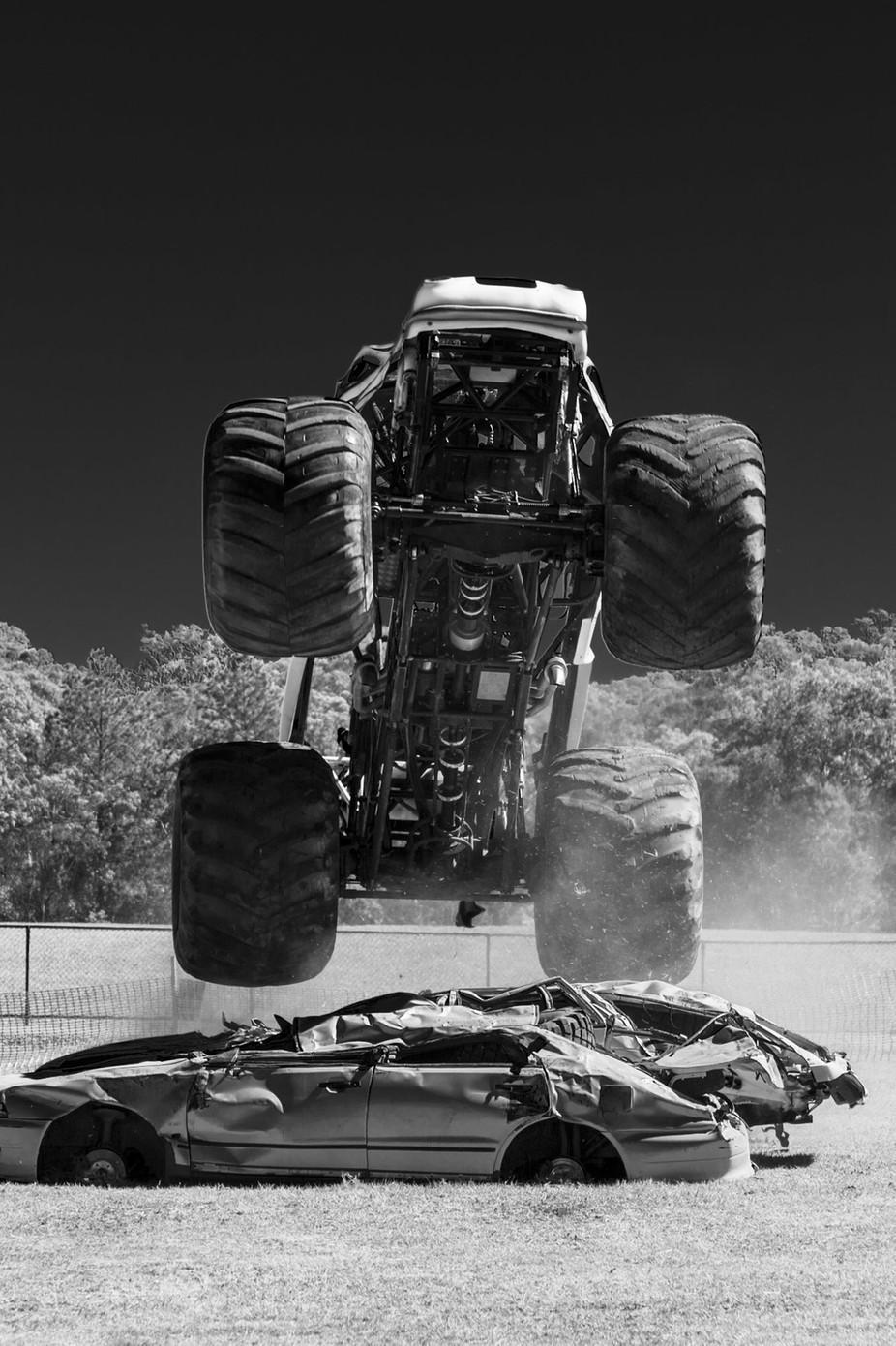 Monster Truck Jump by damienkeffyn - Large Photo Contest