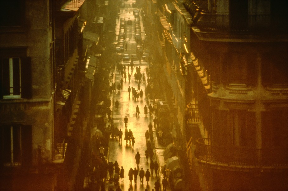 After the Rain Storm from Above the Spanish Steps, Rome, 1981