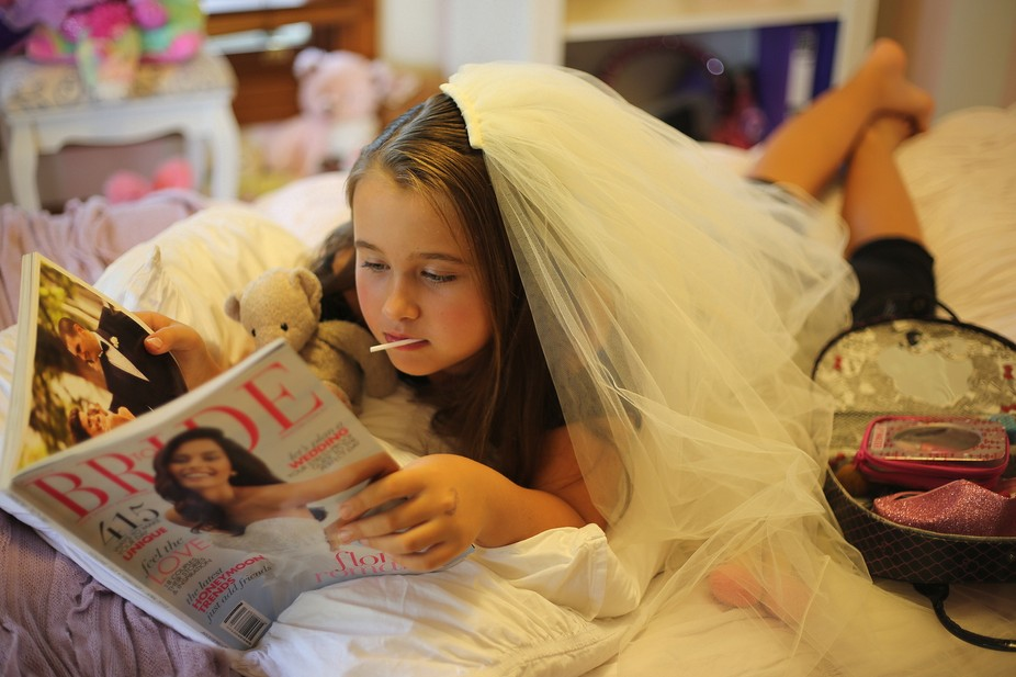 An attempt to recreate my mispent childhood! Bridal mags, makeup and lollypops!