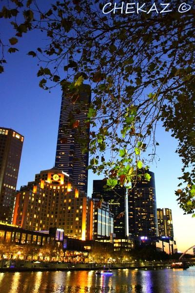SouthBank Melbourne sunset