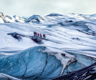 Trekking on the glacier