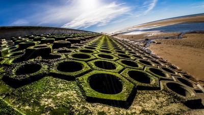 Blackpool sea defences, South shore.
