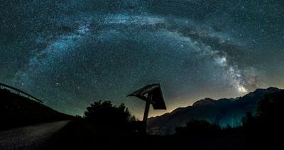 Milkyway over the Italian Alps