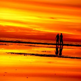 Sunset, Carpinteria State Beach, California