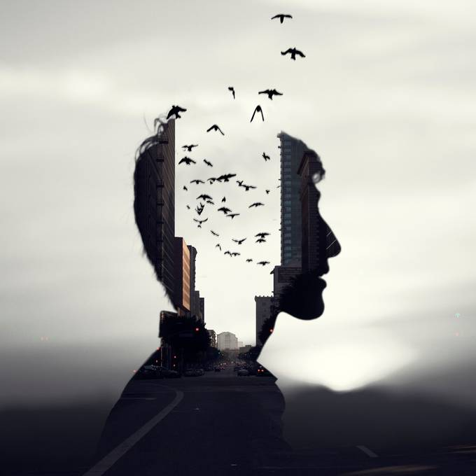 Mind the Birds by chrisrivera - Double Exposure Photo Contest by Pocket Tripod