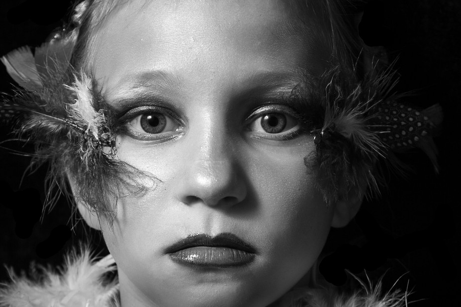 Another fun shoot I did with my daughter and a friend playing with makeup and feathers