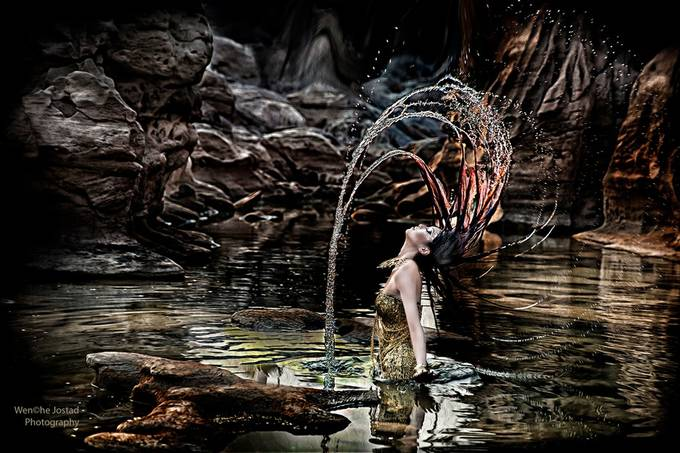 Water Prinsess by wenchejostad - Long Hair Photo Contest