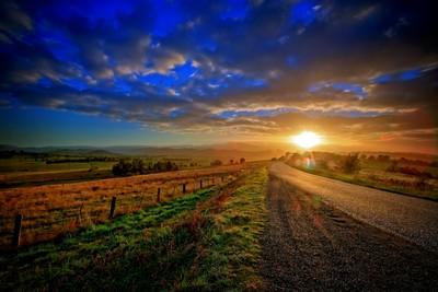 Sun Flare over the Yarra Ranges