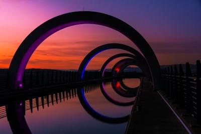 The Falkirk Wheel.
