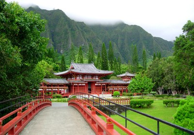 Replica of the the Japanese Byodo-In Buddhist Temple