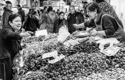Market day in Barcelona
