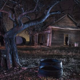 I shot this old abandoned farmhouse earlier at sundown with great results, but what I really wanted to do was a night shoot. It is a composite of...