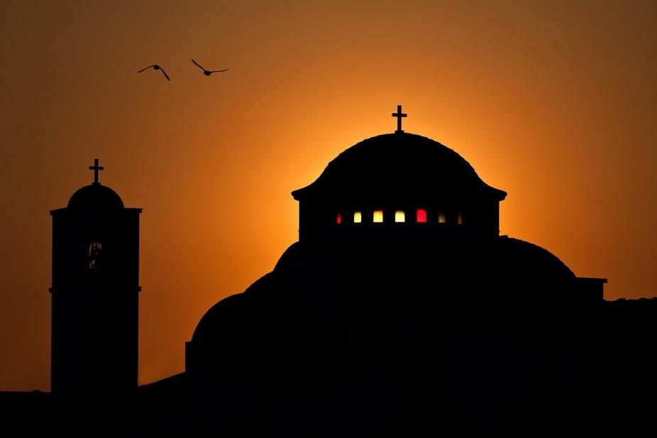 Sunset Church Silhouette