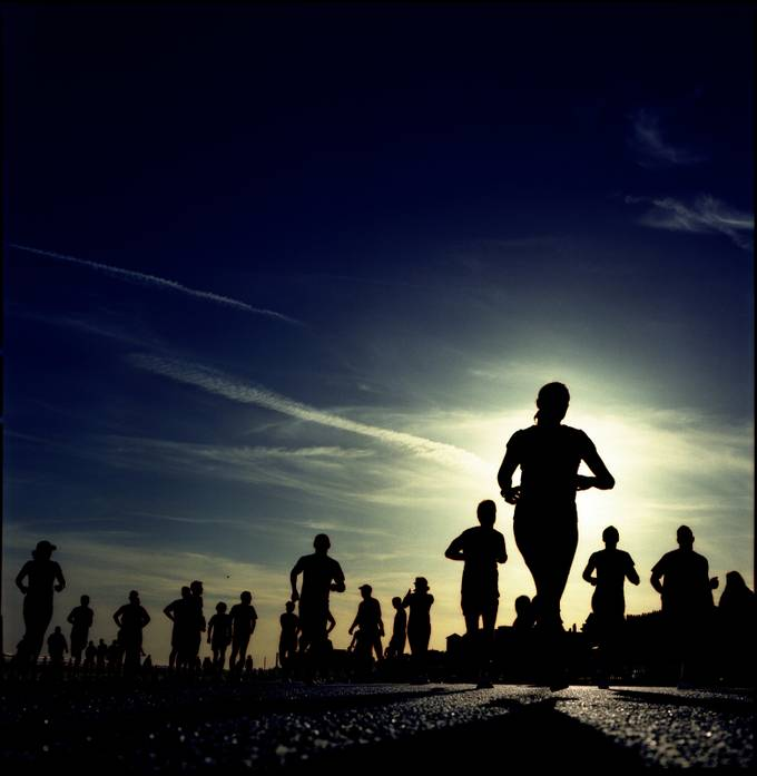 Brighton runners by stevejackson - Healthy Lifestyles Photo Contest