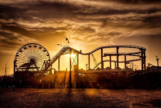 Friday Night - Santa Monica style by kelleyhurwitzahr - City Sunsets Photo Contest
