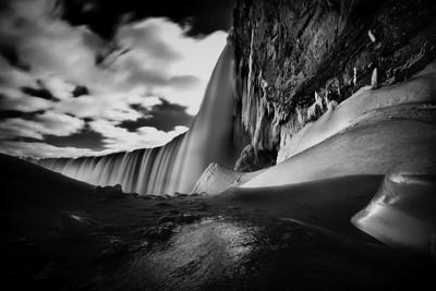 Dark waterfall