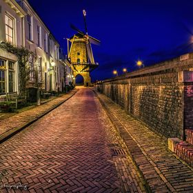 Hdr of a old street in the netherlands ( 32bit file)